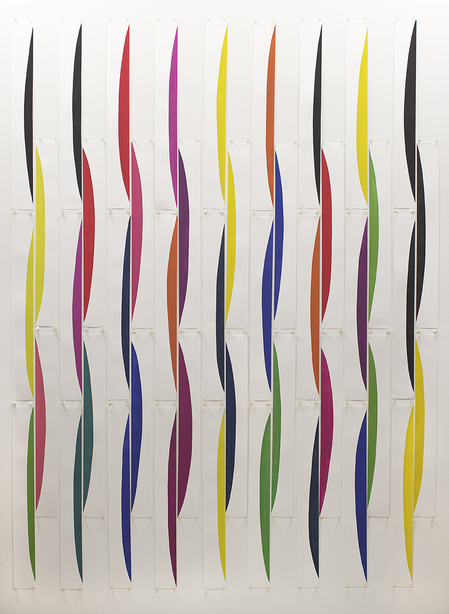 NANCY SIMONDS  Undulating   2014 gouache on paper, 91 x 70 inches