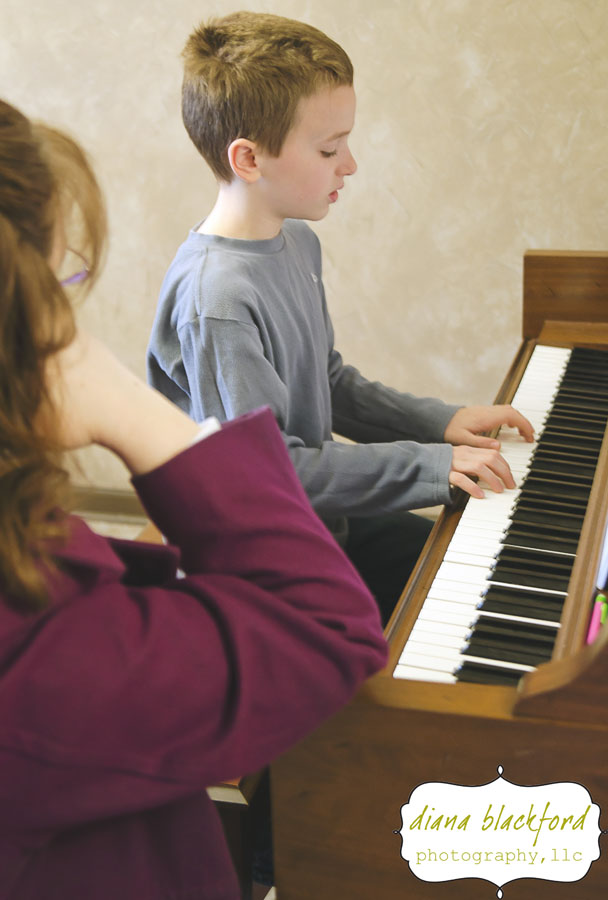 Simon started taking piano lessons at the beginning of the school year. I'm happy that he is enjoying them and usually practices without me having to tell him!