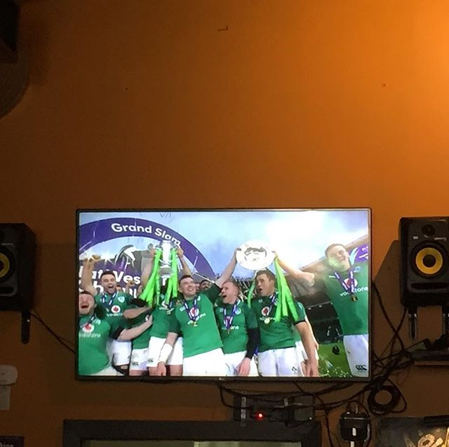 Forgot to mention that IRELAND BEAT ENGLAND IN RUGBY!!! On St Patrick's day to boot!