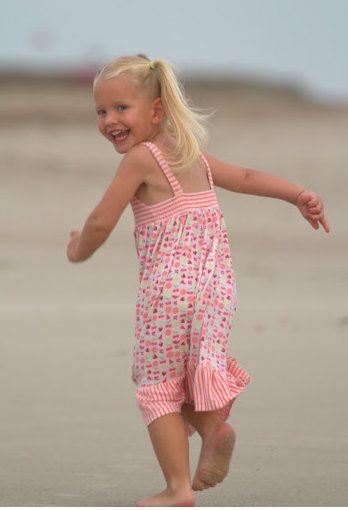 Ava running enthusiastically!