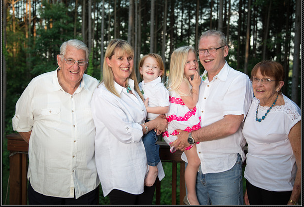 My parents and our grandchildren!