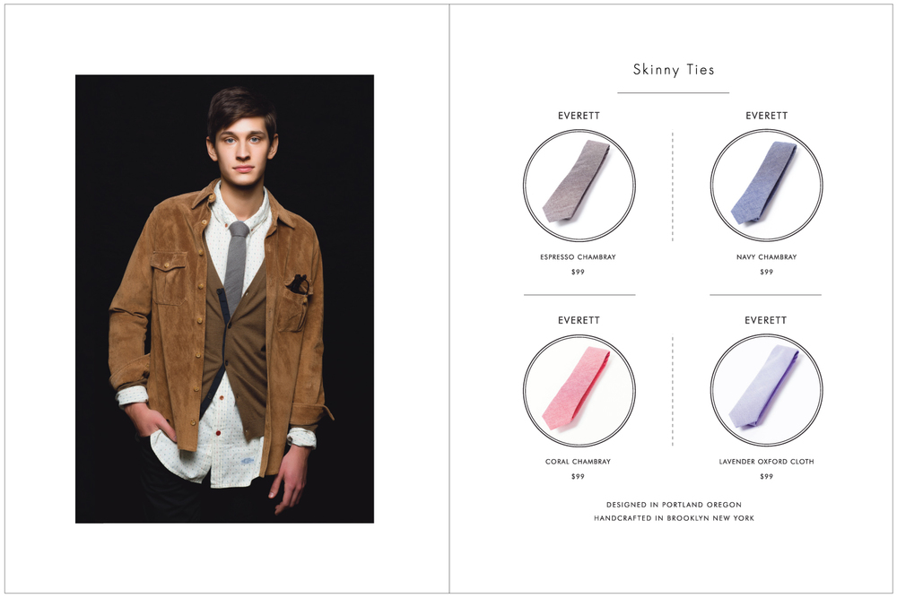 Everett K Handcrafted Ties & Bow Ties 2015 Lookbook Page 3