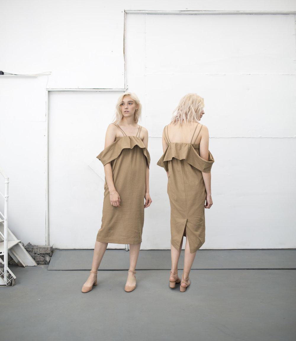 Strap Dress Camel Beige.jpg