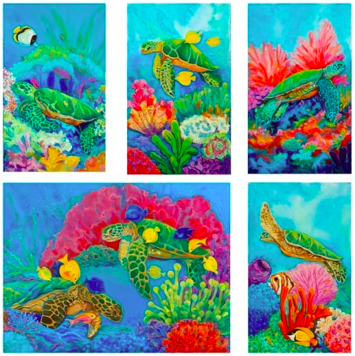 Sea Turtle Note Cards