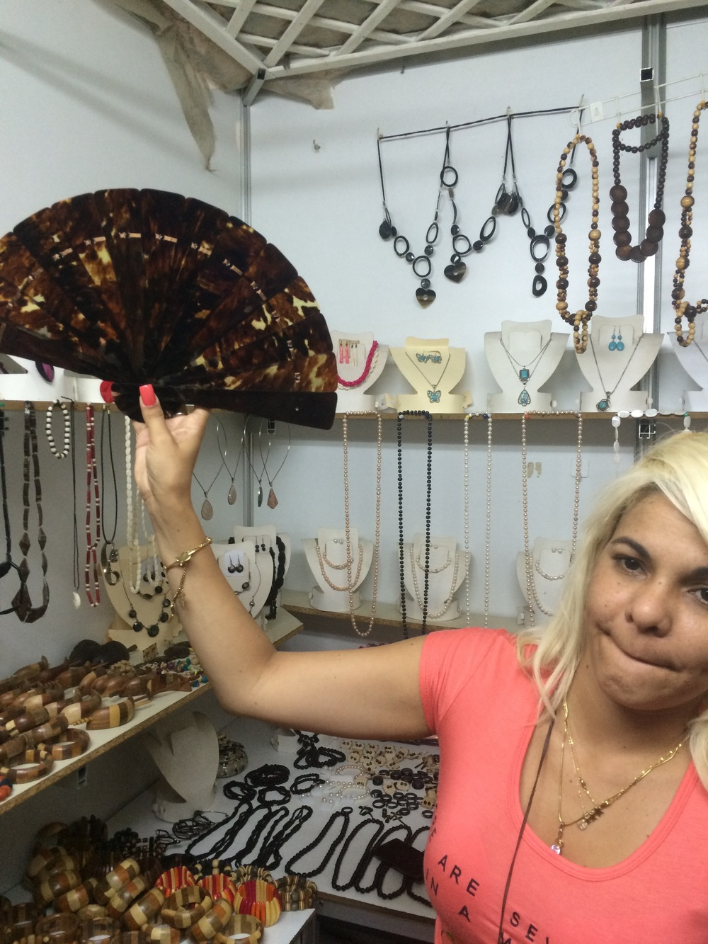 Fan made from hawksbill turtle shell for sale in Havana