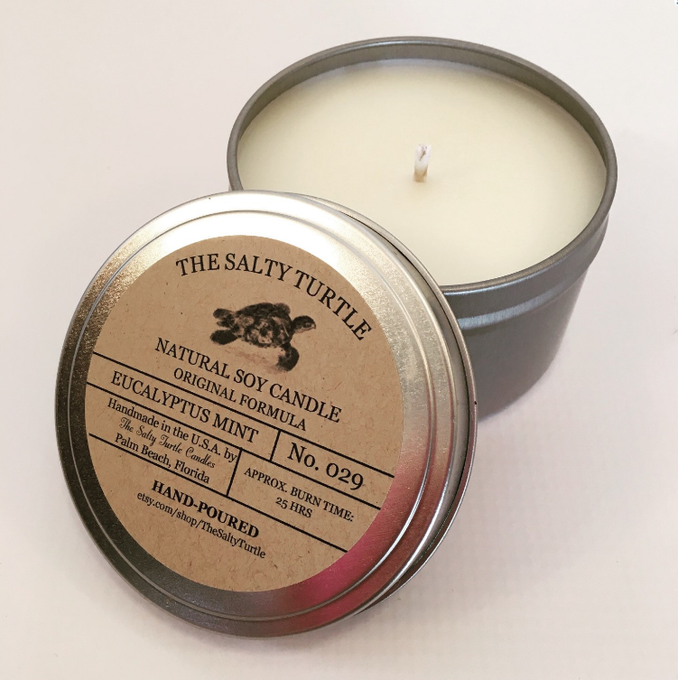 Salty Turtle Candles (10% of profits donated)
