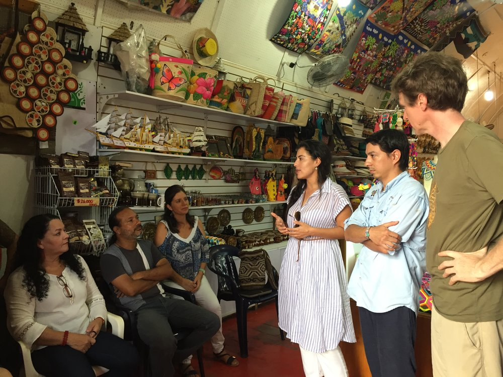 Meeting with shop owners