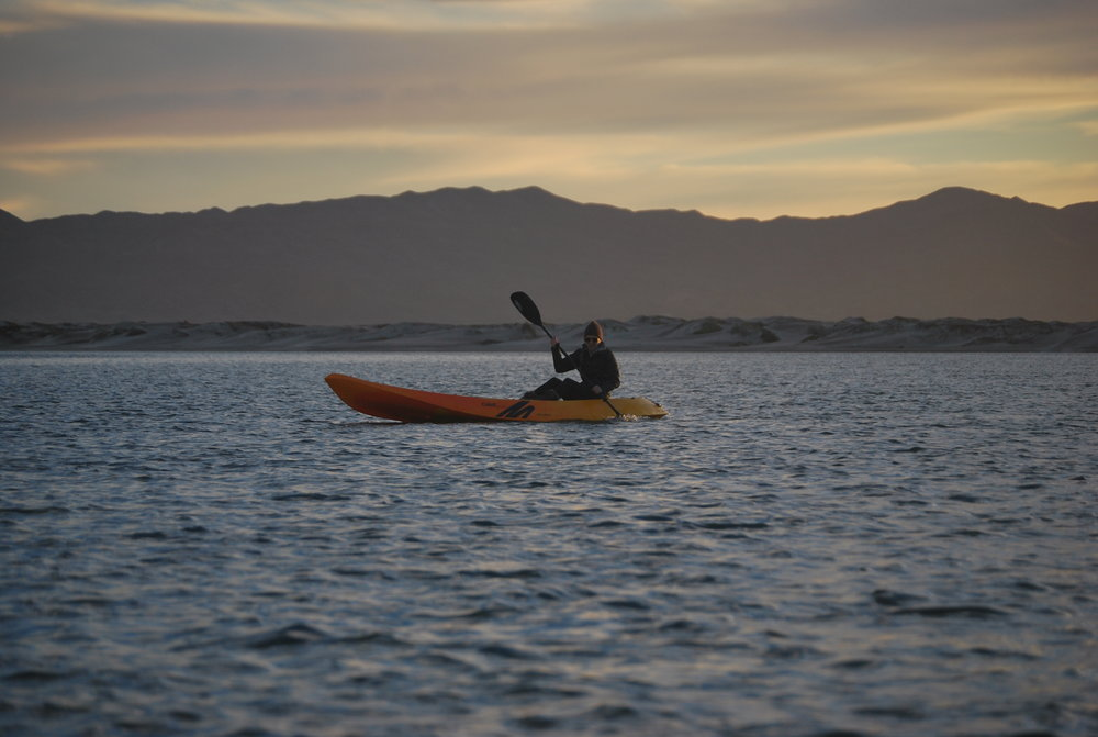 During free time, take out a kayak to explore the Bay