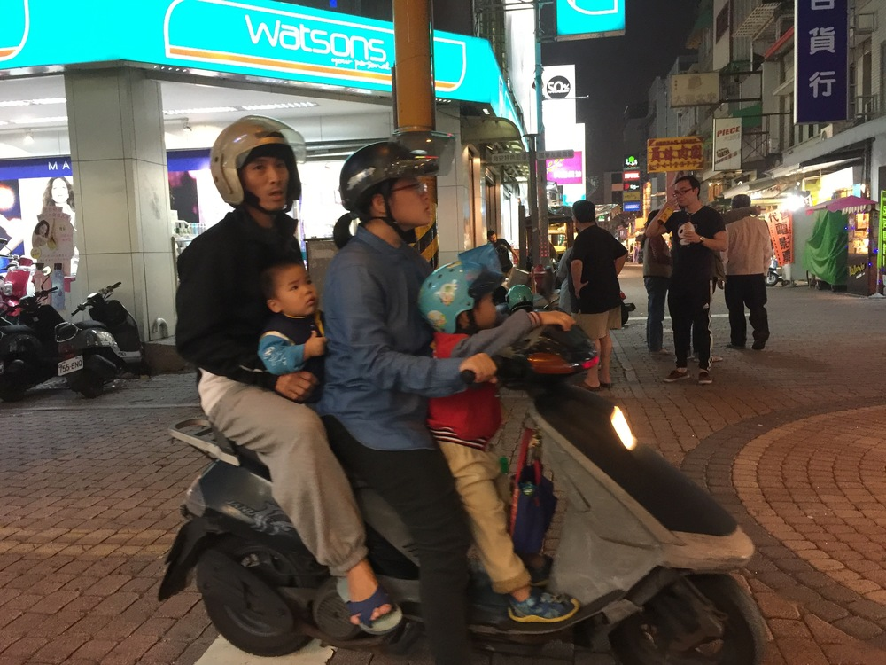 Scooter Life: family of four