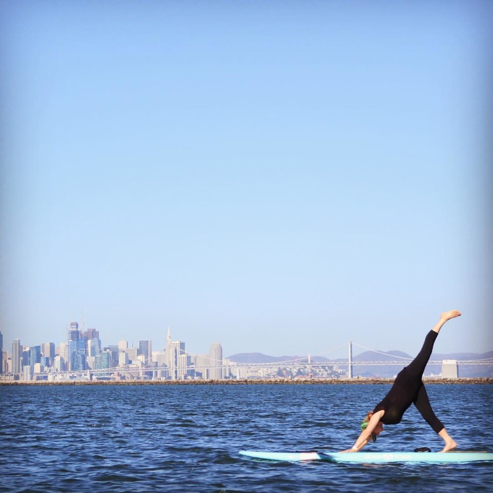 Sari Gelzer Stankowski SUP Yoga Bay Bridge Background.jpg