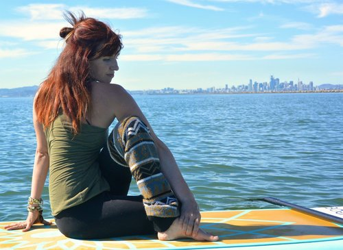 Mike's Paddle SUP Yoga Instructor Nicole Harrow.