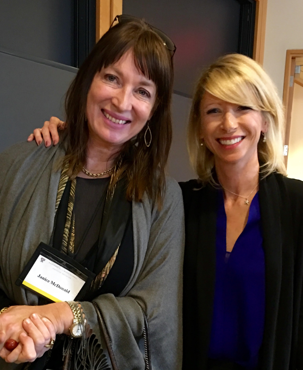 Janice with Harvard psychologist and author of 'Presence',  Amy Cuddy