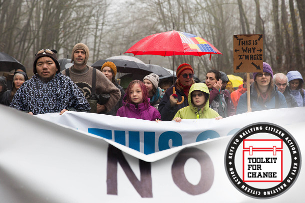Protesters against the Trans Mountain pipeline captured headlines last December on Burnaby Mountain. Photo: Jackie Dives