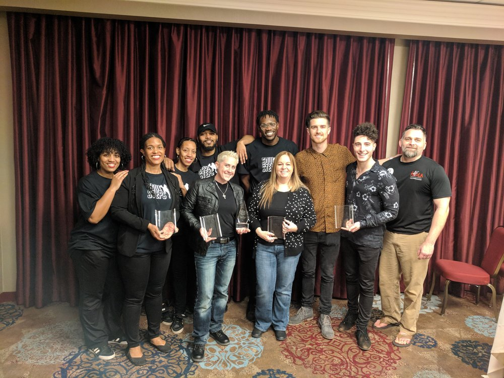 Houla Entertainment Artists after accepting awards