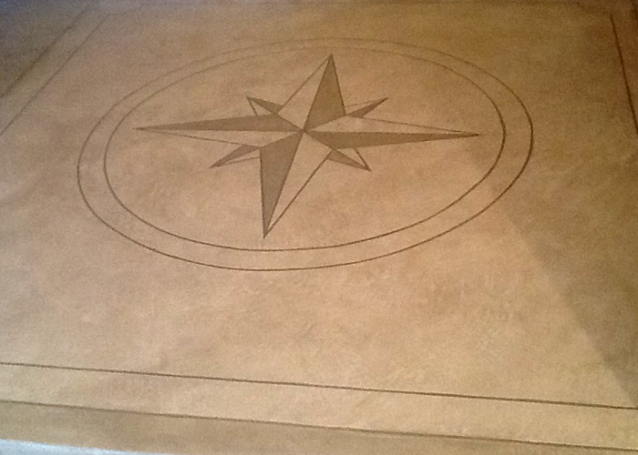 Custom design: Stamped Concrete