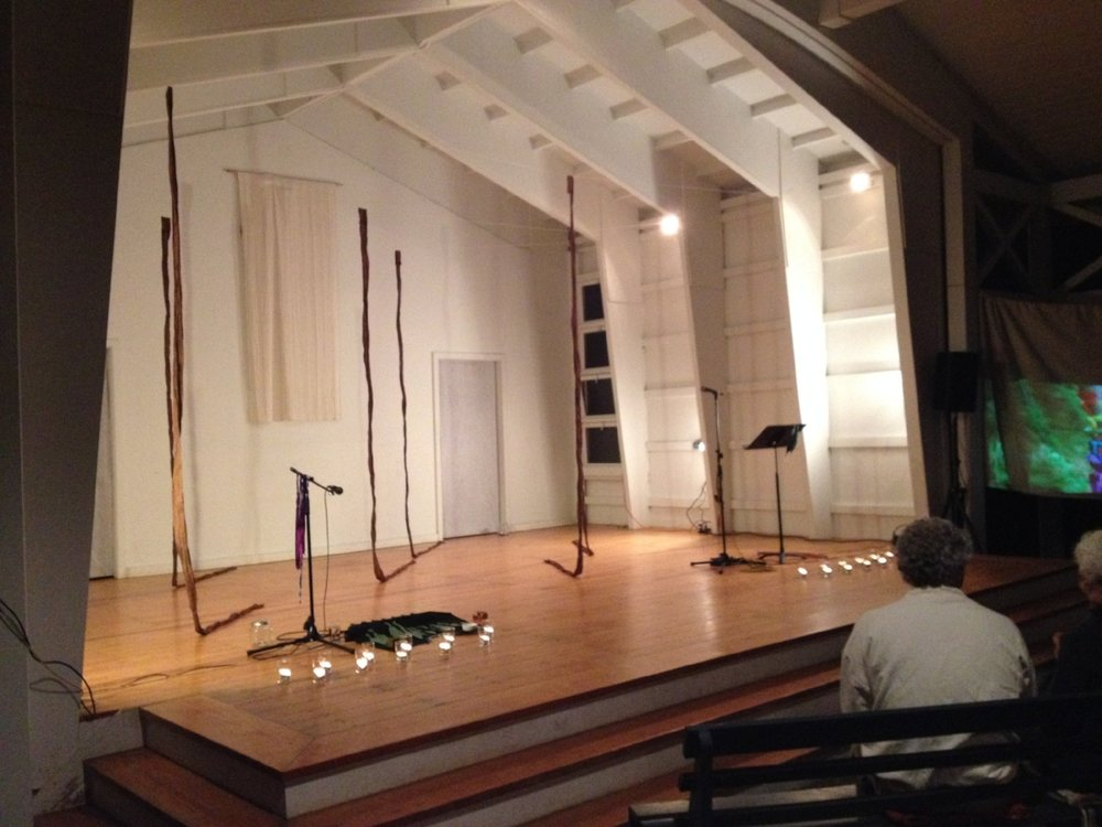 Tabernacle stage setting for Lenelle Moise's final performance as LPA Artist-In-Residence