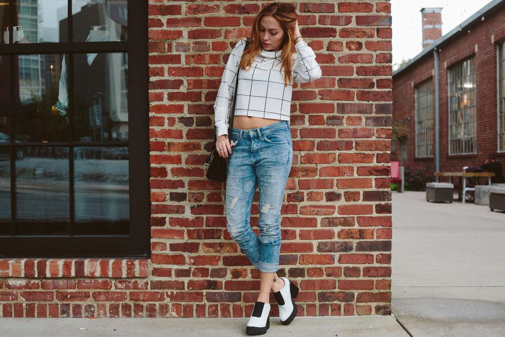 Top - Princess Polly | Jeans - H&M | Shoes - Miista | Bag - Saint Laurent || photos by Susannah Brittany