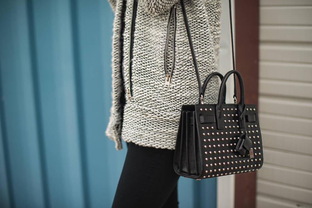 Sweater - IRO  |  Jeans - Topshop  |  Bag - Saint Laurent  |  Boots - Miista  ||  photos by Blythe Thomas