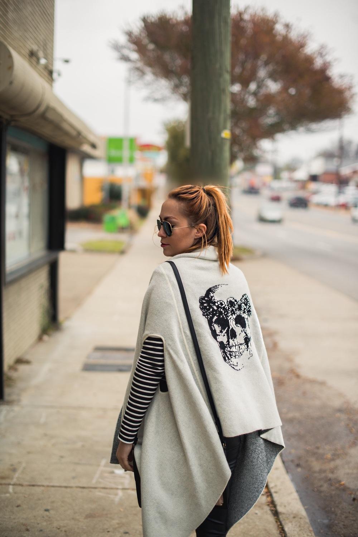 Top - Forever 21 |  Vest - Skull Cashmere  |  Pants - Topshop  |  Shoes - Miista  |  Bag - Danielle Nicole  ||  photos by Blythe Thomas