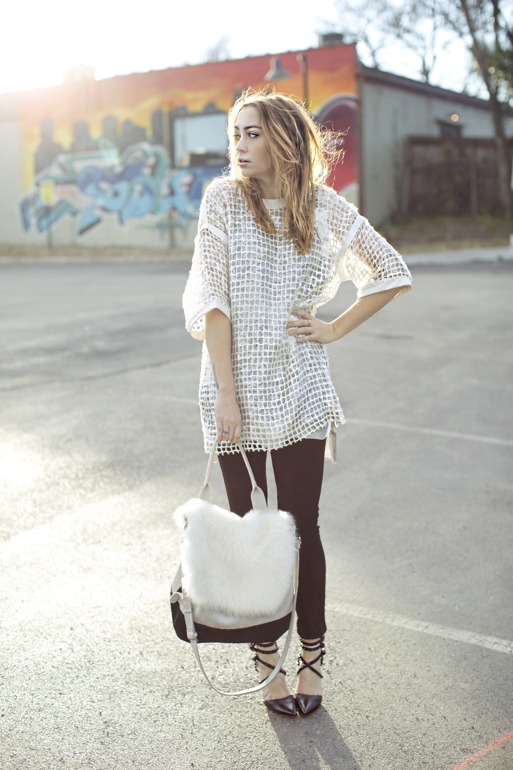 Top - Aviu | Pants - Transit | Shoes - Alice + Olivia | Bag - Farfetch || photos by Susannah Brittany