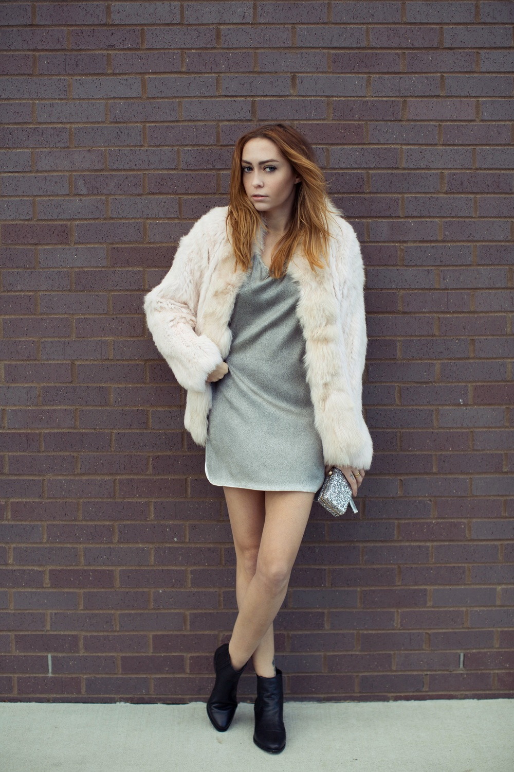 Jacket - Elizabeth & James  | Dress - Aviu |  Boots - Senso  |  Clutch - Deux Lux  ||  photos by Susannah Brittany