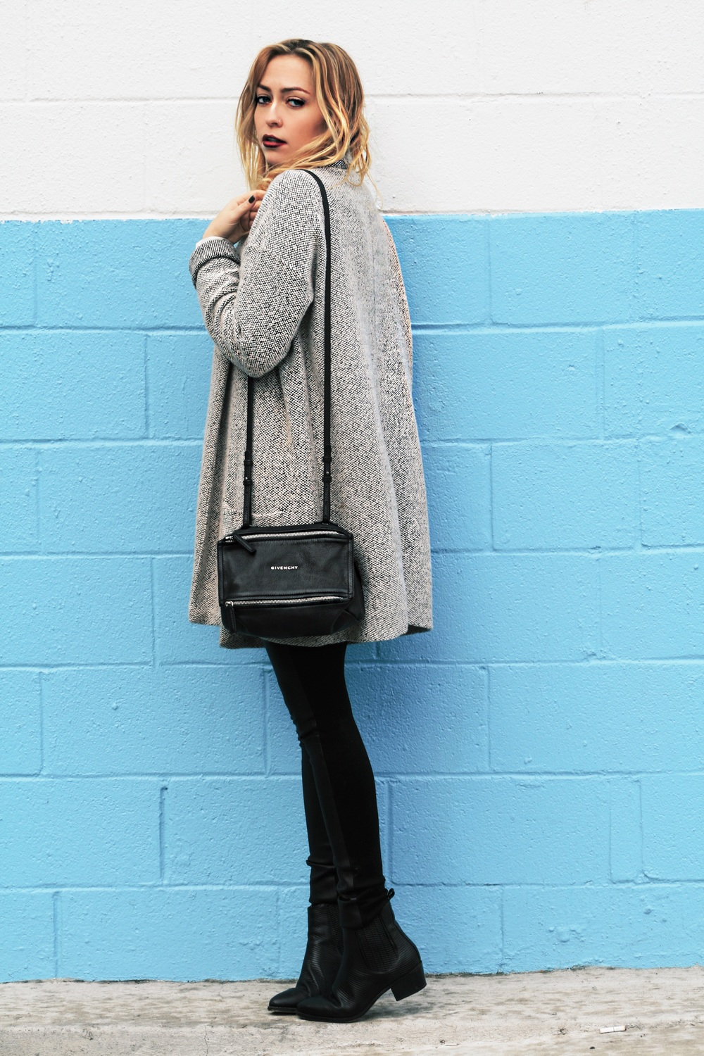 Sweater - Forever 21 | Shirt - Equipment | Pants - Club Monaco | Boots - Senso | Bag - Givenchy || photos by Mandy Mooring
