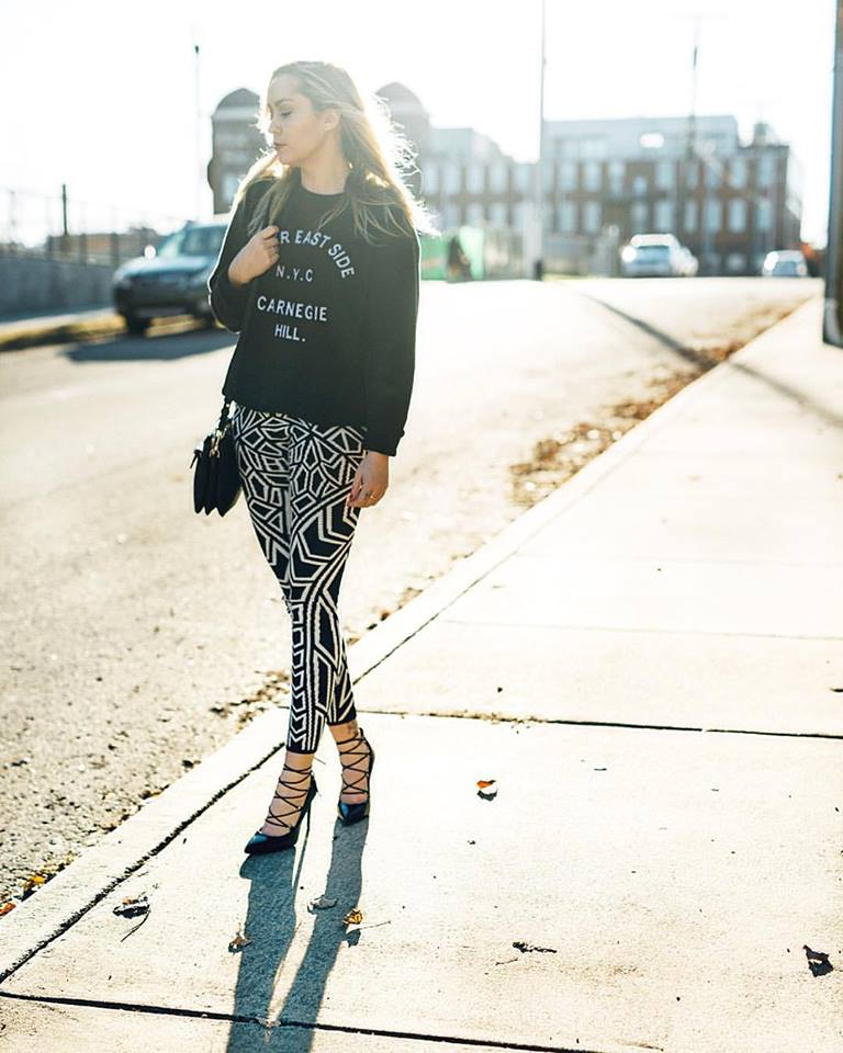 Top + Pants - TopShop | Shoes - Saint Laurent | Bag - Mackage || photo by Tausha Dickinson