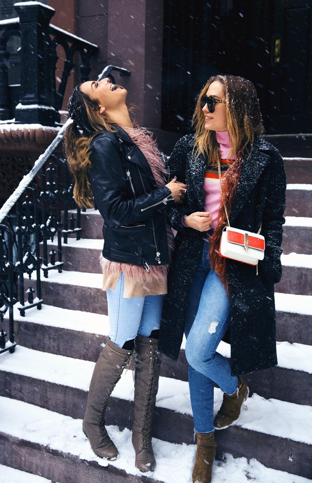 Top - Orla Kiely | Jeans - Mother Denim | Coat + Boots - Saint Laurent | Bag + Sunnies - Karen Walker photos by IVAN CLOW