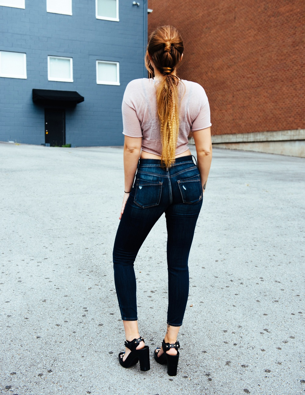 Top + Bralette - Express One Eleven |Jeans - Express | Shoes - Balenciaga GLAM by The Dry House Nashville || photos by Delaney Royer