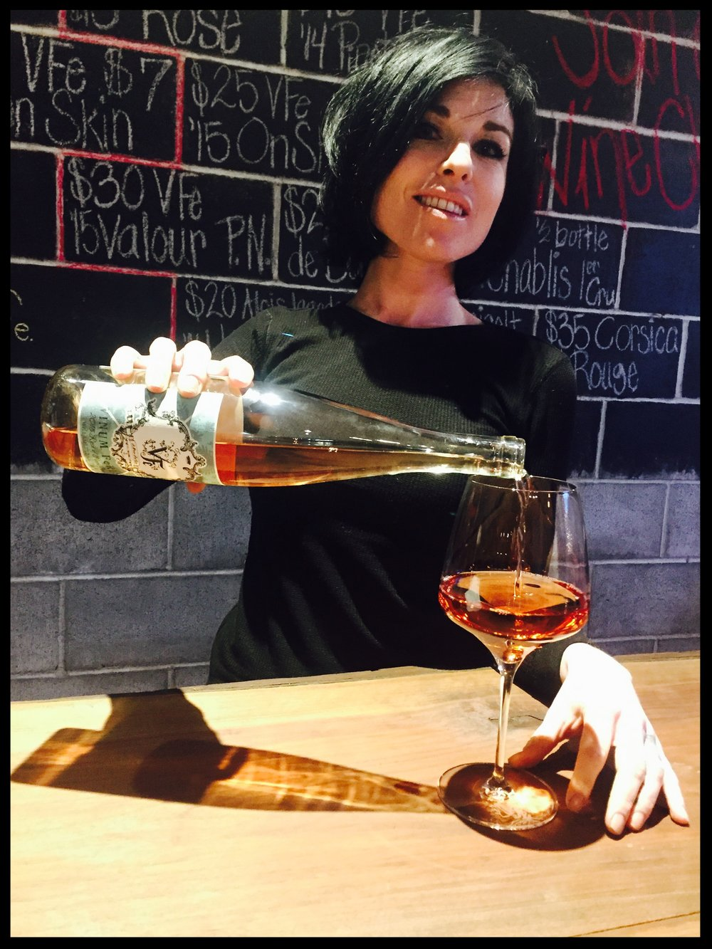 Natalie is pouring the 2015 Vinum Ferus Rosé, which was just awarded Editors' Choice by Wine Enthusiast