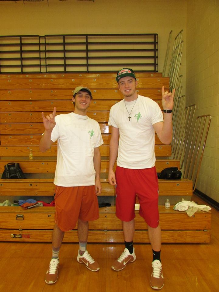 Joe Schwartz and Connor Lammert of the UT Men's Basketball Team were on hand to show their support of the event.