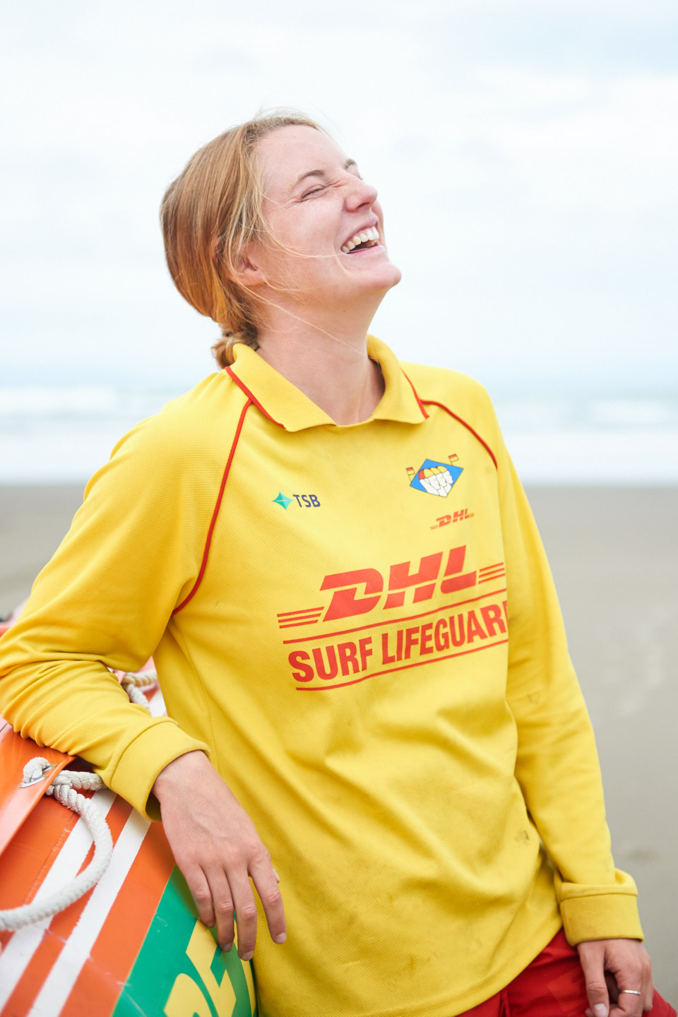 Surf life guards at Bethells Beach