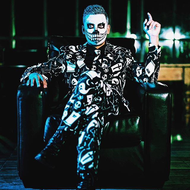 Another birthday. I think I've aged well. 💀 . . . Thanks @peterhancock for the photo assist and the killer makeup 🎨 📸 👌🏽