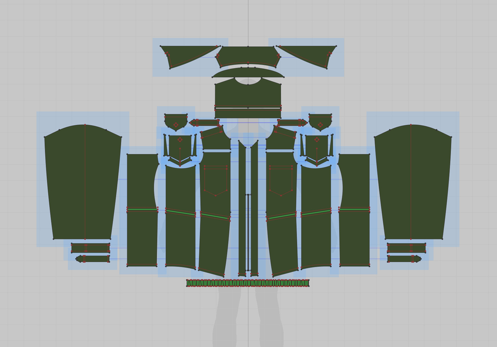 The pattern for the jacket.
