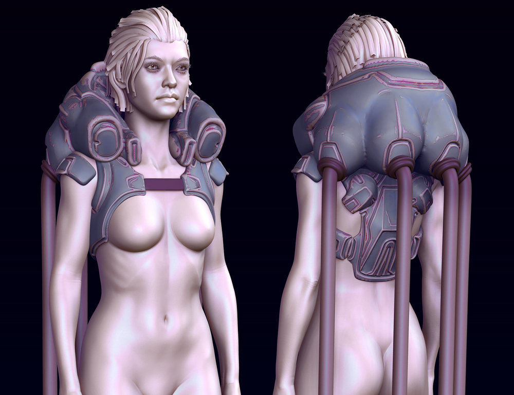Initial blockout sculpt.