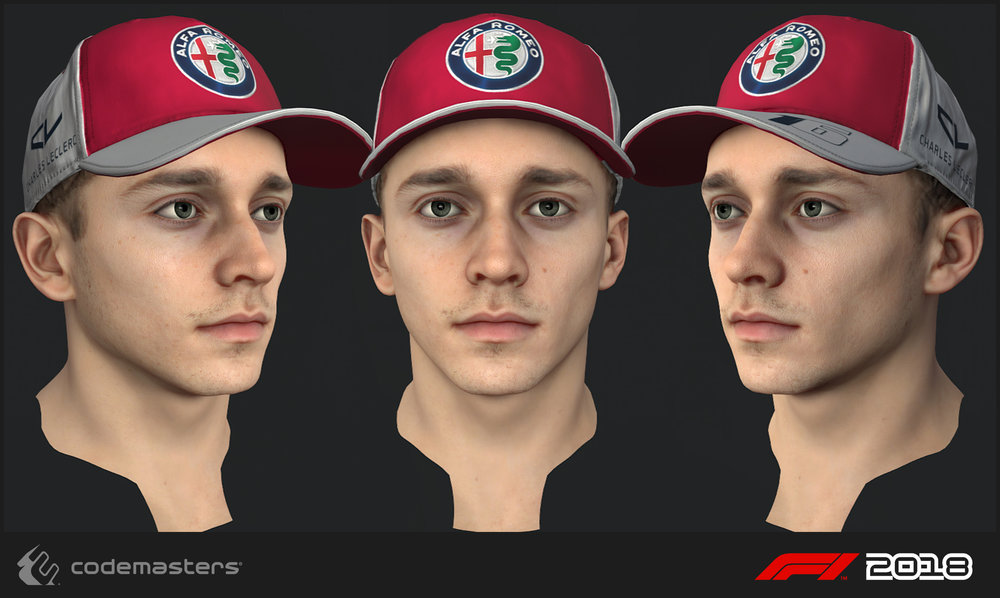 Charles Leclerc. Responsibilities: Scanning the driver, high poly creation, texture creation for the head.
