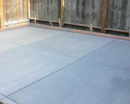 Plain Concrete   Using plain concrete only (no colour, stamp, stencil, stain etc.)