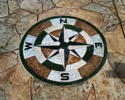 Logos and Custom Design   Incorporate any logo, design or artwork into your concrete project.