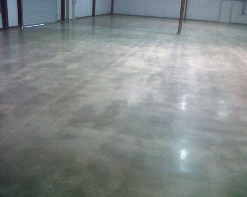 Polished Concrete   Grinding (old or new) concrete to a high gloss finish. Stain can be applied. Very low maintenance. Good application for commercial, retail and residential properties.