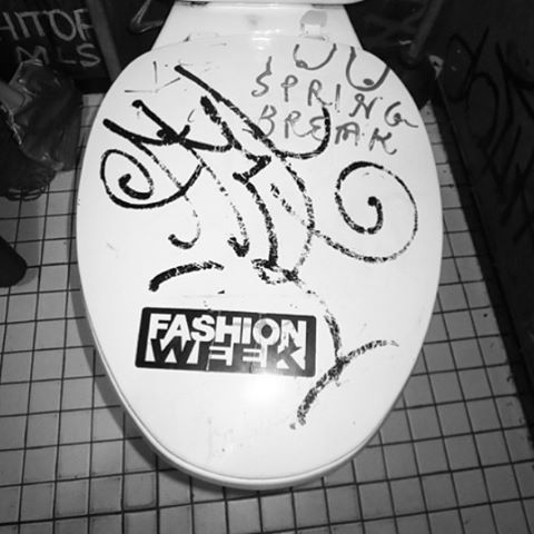 Bathroom Grafitti: Fashion week