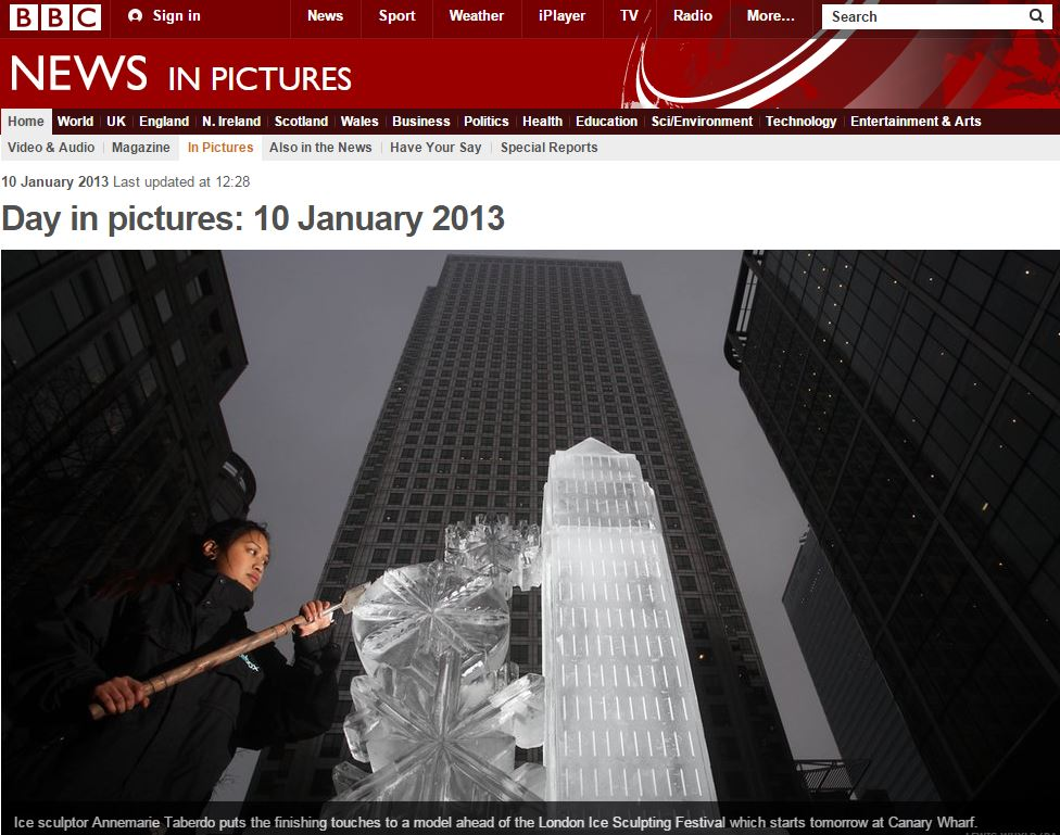 BBC NEWS IN PICTURES : 2013