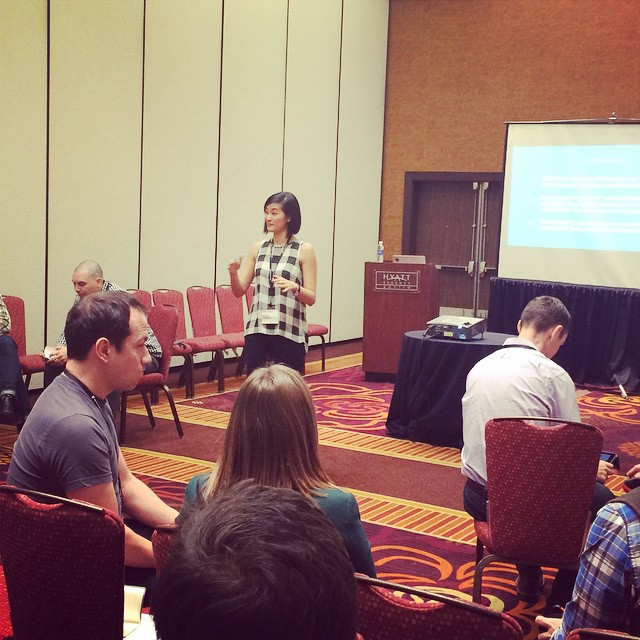 @clew23 leading her breakout session. We are in small groups discussing the best way to get honest feedback from employees. #ownersummit by ownersummit.jpg