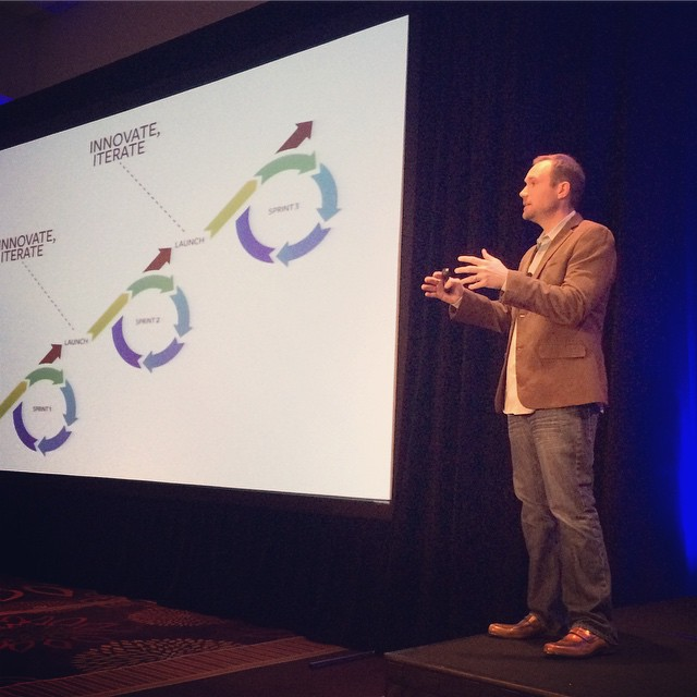 @geoff352 from @352inc describing the best approach to team structure. #ownersummit by ownersummit.jpg