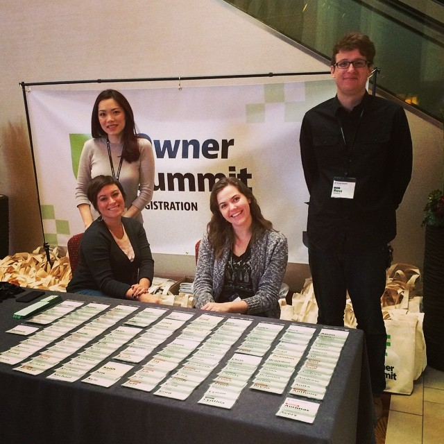 Time to check in! Come see these smiling faces at registration in the hotel lobby. #ownersummit by ownersummit.jpg
