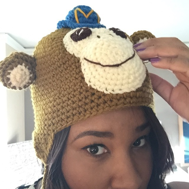 Checkin out my #dpm2015 conference #swag. Not sure what outfits will match my monkey hat tho... #fashionista by ratliffevents.jpg