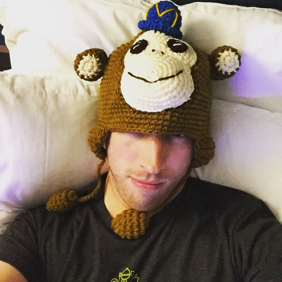 I'm gonna sleep in my @mailchimp hat. It's cool #dpm2015 by downincircles.jpg