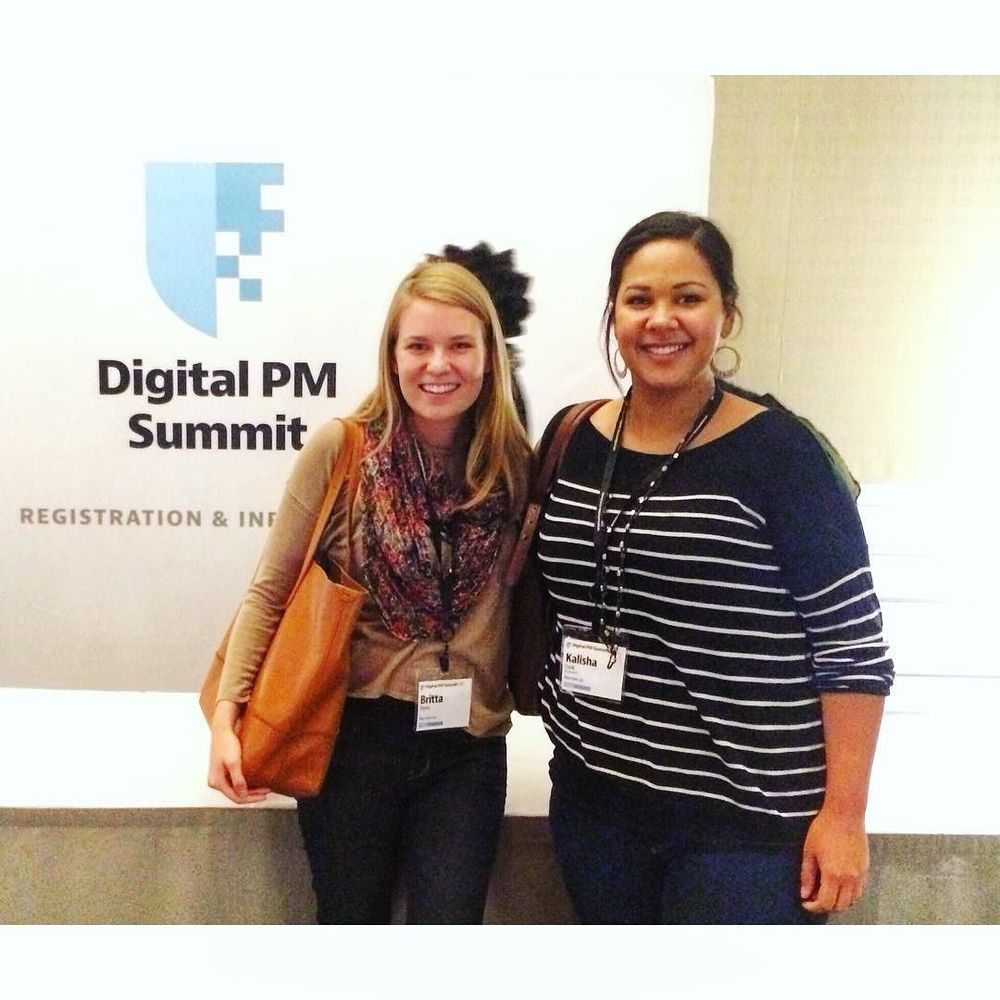 Kalisha and Britta, two of our project managers, are learning new insights and innovations in managing digital projects at the @digitalpmsummit #dpm2015 #NHI by ninahaleinc.jpg
