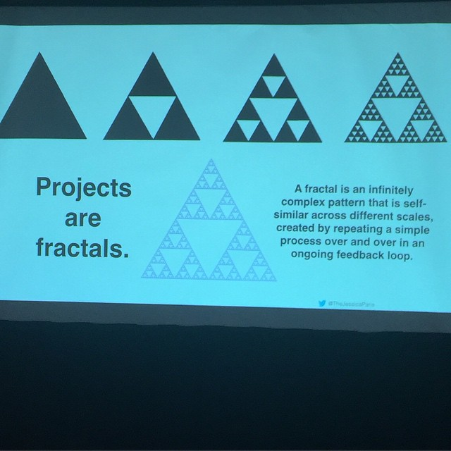 Love this. Projects are fractals #dpm2015 @thejessicaparis by ratliffevents.jpg
