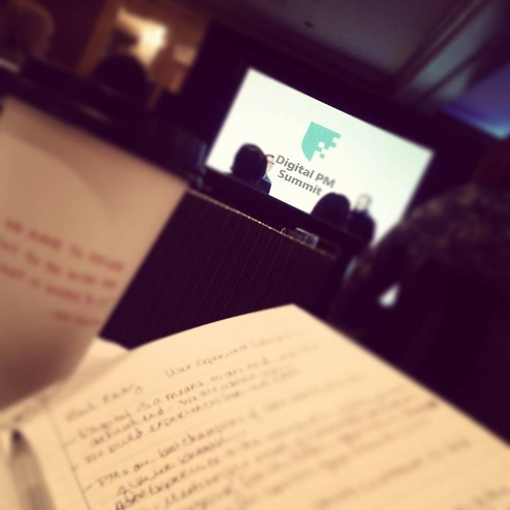 Old school note taking at the DIGITAL PM Summit. #irony #dpm2015 by rachelle_epley.jpg