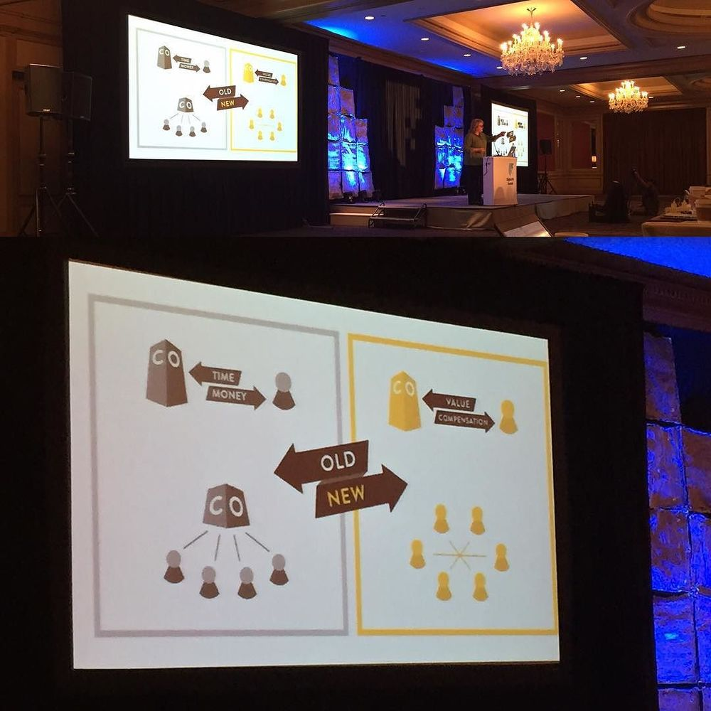 Old Way vs. New Way. Inspiring talk by Nancy Lyons about being an #intrapreneur #dpm2015 by digicoffee.jpg